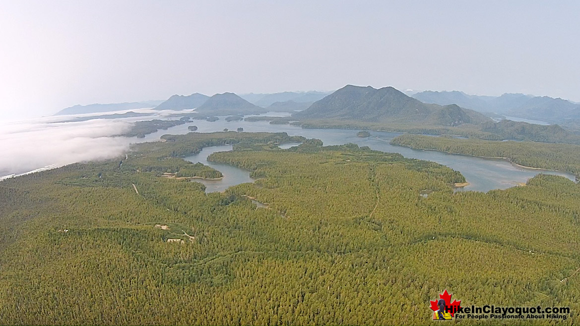 Radar Hill in Tofino Aerial View