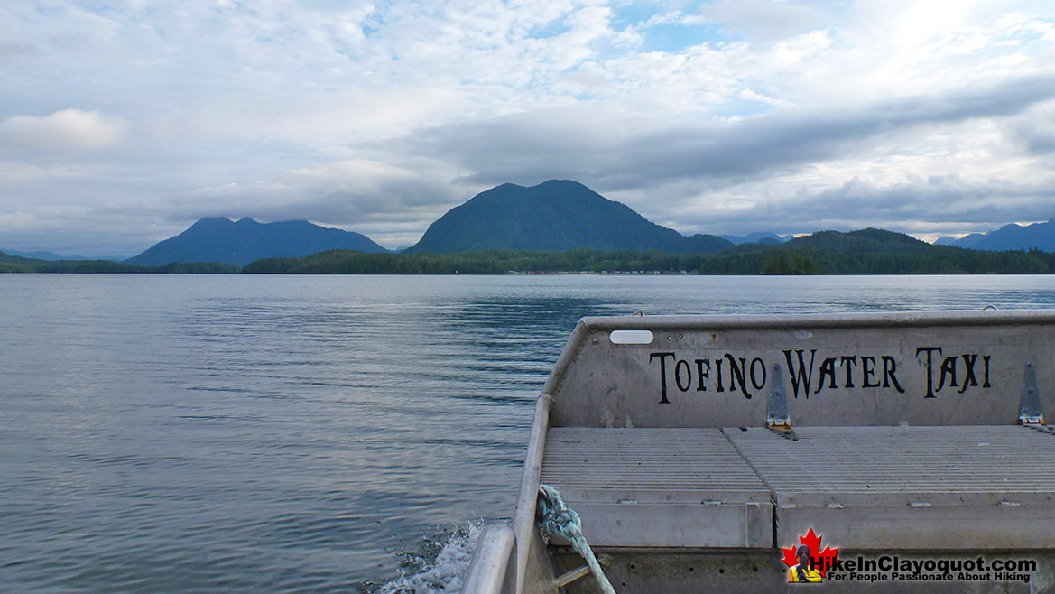Tofino Water Taxi Boat View