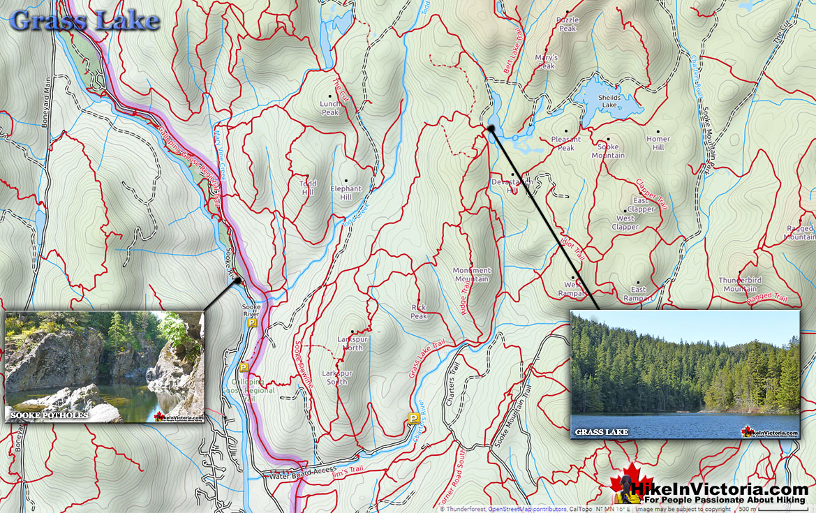Grass Lake Hiking Trail Map