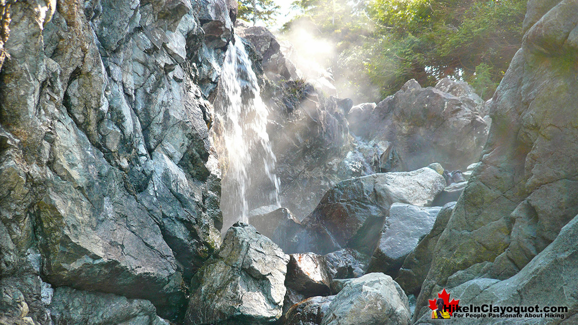 Hot Springs Cove Waterfall