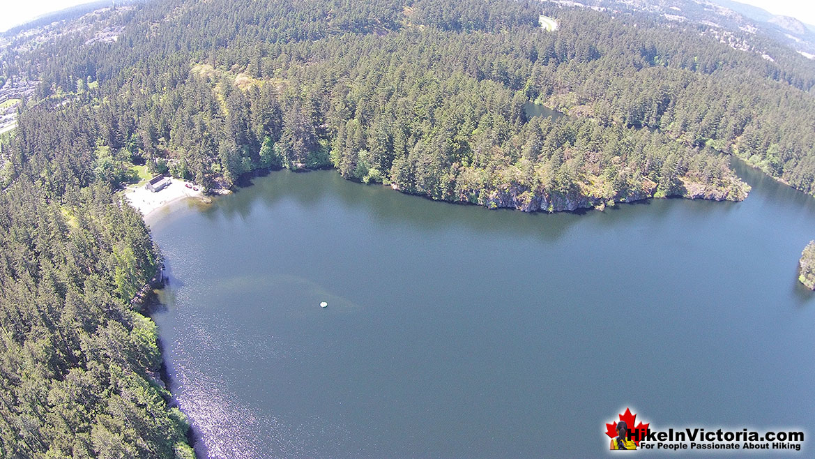 Thetis Lake Provincial Park Aerial View